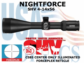 NIGHTFORCE SHV 4-14x56 FORCEPLEX CENTER ONLY ILLUMINATED