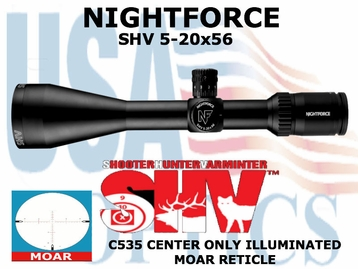 NIGHTFORCE SHV 5-20x56 MOAR CENTER ONLY lLLUMINATED