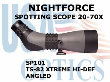 NIGHTFORCE SPOTTING SCOPE TS-82 XTREME HI-DEF 20-70X ANGLED
