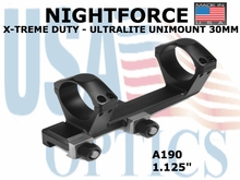NIGHTFORCE X-TREME DUTY ULTRALITE UNIMOUNT 30MM<BR>1.125""
