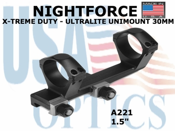 NIGHTFORCE X-TREME DUTY ULTRALITE UNIMOUNT 30MM<BR>1.5""