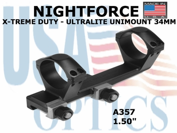 NIGHTFORCE X-TREME DUTY ULTRALITE UNIMOUNT 34MM<BR>1.50""
