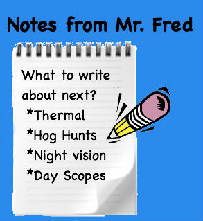 Notes from Mr. Fred