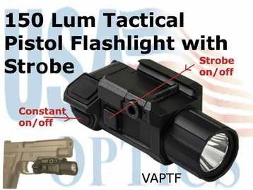 VISM* PISTOL FLASHLIGHT with STROBE