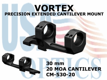 VORTEX PRECISION EXTENDED CANTILEVER MOUNT - 30 mm -  20 MOA CANTILEVER
