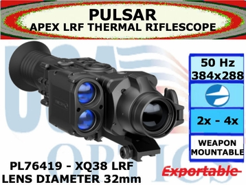 PULSAR APEX LRF XQ38 2.2-8.8x32 THERMAL RIFLESCOPE