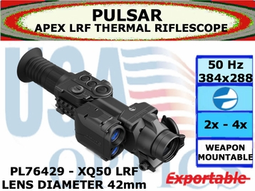 PULSAR APEX LRF XQ50 2.8-11.2x42 THERMAL RIFLESCOPE