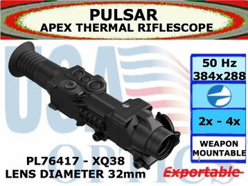 PULSAR APEX XQ38 2.2-8.8x32 THERMAL RIFLESCOPE