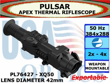 PULSAR APEX XQ50 2.8-11.2x42 THERMAL RIFLESCOPE