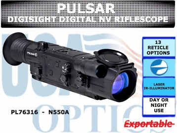 PULSAR DIGISIGHT N550A DIGITAL NIGHT VISION RIFLESCOPE
