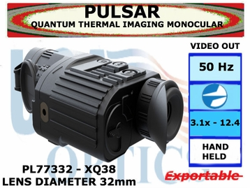 QUANTUM XQ38 THERMAL IMAGING MONOCULAR 3.1-12.4x32