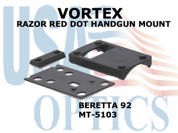 VORTEX RAZOR RED DOT HANDGUN MOUNT (BERETTA 92)
