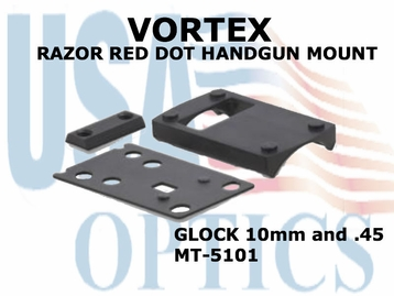 VORTEX RAZOR RED DOT HANDGUN MOUNT (GLOCK 10mm & .45)
