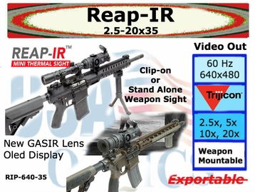 REAP-IR THERMAL WEAPON SIGHT w/ MINI D-LOC MOUNT