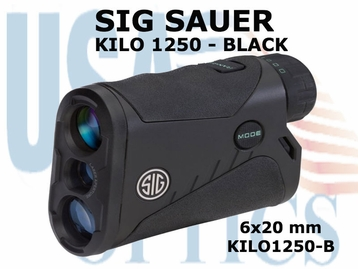 SIG SAUER ELECTRO-OPTICS KILO 1250 LASER RANGE FINDER - BLACK
