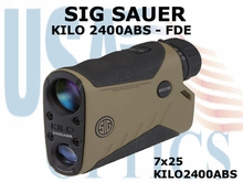 SIG SAUER ELECTRO-OPTICS KILO 2400ABS LASER RANGE FINDER - FDE