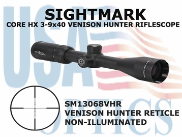 (SPEC) SIGHTMARK CORE HX 3-9x40 VHR RIFLESCOPE
