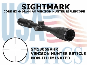 SIGHTMARK CORE HX 4-16x44 AO VHR RIFLESCOPE