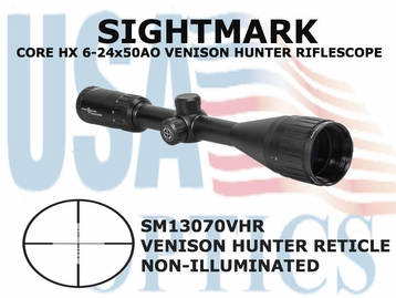 SIGHTMARK CORE HX 6-24x50 AO VHR RIFLESCOPE