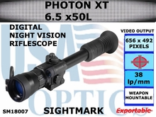 SIGHTMARK PHOTON XT 6.5x50 L DIGITAL NIGHT VISION RIFLESCOPE