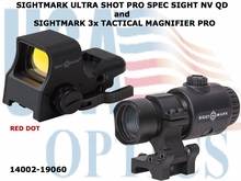 SIGHTMARK ULTRA SHOT PRO SPEC SIGHT NV QD & SIGHTMARK 3x TACTICAL MAGNIFIER PRO