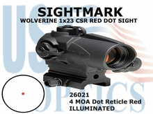 SIGHTMARK WOLVERINE 1x23 CSR RED DOT SIGHT - RED 2 MOA