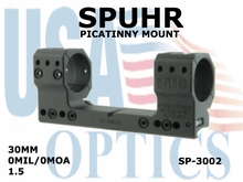 SPUHR 30 mm PICATINNY MOUNT<br>0MIL/0MOA - 1.5""