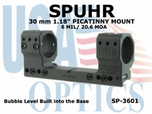 SPUHR  30mm PICATINNY MOUNT <BR>6MIL/20.6MOA - 1.18""