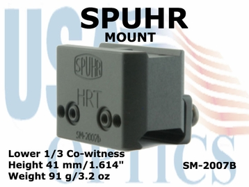 SPUHR MOUNT <BR> FOR AIMPOINT T1, T2 & H1