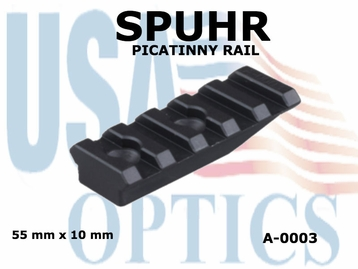 SPUHR PICATINNY RAIL 55mm x 10mm