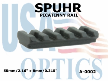 SPUHR PICATINNY RAIL 55mm x 8mm