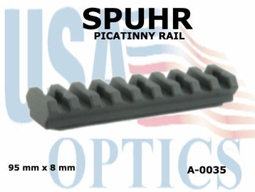 SPUHR PICATINNY RAIL 90mm X 8mm