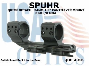 SPUHR QUICK DETACH 34MM CANTILEVER SCOPE MOUNT 0 MIL/0 MOA - 1.5""