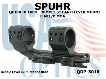 SPUHR QUICK DETACH 30MM CANTILEVER SCOPE MOUNT 0 MIL/0 MOA - 1.5""