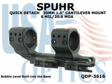 SPUHR QUICK DETACH 30MM CANTILEVER SCOPE MOUNT 6 MIL/20.6 MOA - 1.5""