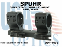 SPUHR QUICK DETACH 34MM SCOPE MOUNT 0 MIL/0 MOA - 1.5""
