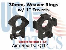 "TRI-RING MOUNT/30MM/1"" INSERT-HIGH"