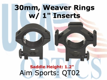 "TRI-RING MOUNT/30MM/1"" INSERT-MEDIUM"