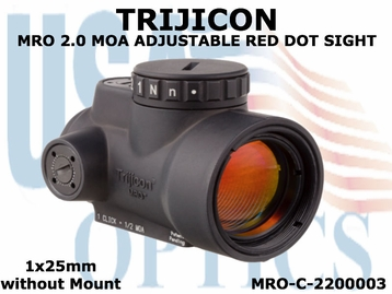 TRIJICON MRO 2.0 MOA ADJUSTABLE RED DOT SIGHT 1x25mm <BR>without MOUNT