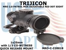 TRIJICON MRO PATROL 2.0 MOA ADJUSTABLE RED DOT SIGHT 1x25 <BR>with 1/3 CO-WITNESS Q.R. MOUNT