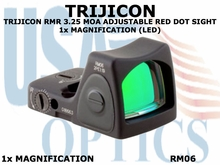 TRIJICON RMR 3.25 MOA ADJUSTABLE RED DOT SIGHT 1x MAGNIFICATION (LED)