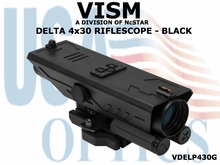 VISM DELTA 4x30 RIFLESCOPE - BLACK