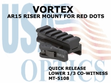 VORTEX AR15 RISER MOUNT FOR RED DOTS