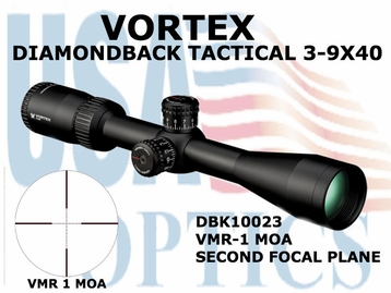 VORTEX DIAMONDBACK TACTICAL 3-9X40 VMR-1 MOA
