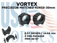 VORTEX PRECISION MATCHED RINGS 30mm - 0.97 INCHES - 24.64 mm