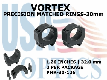 VOREX PRECISION MATCHED RINGS 30mm - 1.26 INCHES - 32.0 mm
