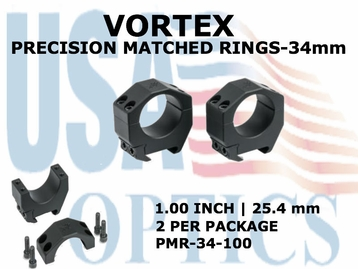 VORTEX PRECISION MATCHED RINGS 34mm - 1.00 INCH - 25.4 mm