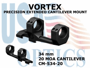 VORTEX PRECISION EXTENDED CANTILEVER MOUNT - 34 mm - 20 MOA CANTILEVER