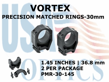 VORTEX PRECISION MATCHED RINGS 30mm - 1.45 INCHES - 36.8 mm