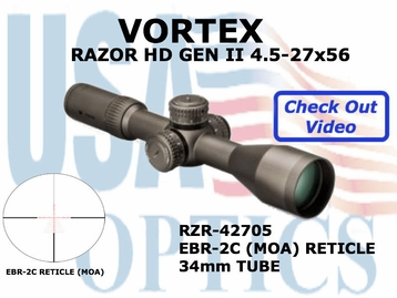 "VORTEX RAZOR HD GEN II 4.5-27x56 EBR-2C MOA <STRONG><FONT COLOR = ""RED"">LIMITED QUANTITIES AVAILABLE</FONT><BR></STRONG>"